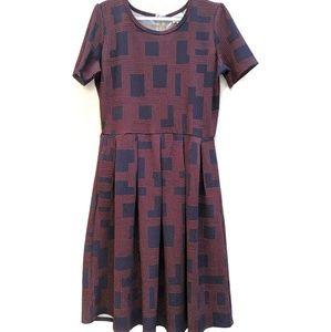 Lularoe Simply Comfortable short sleeve dres. Sz L